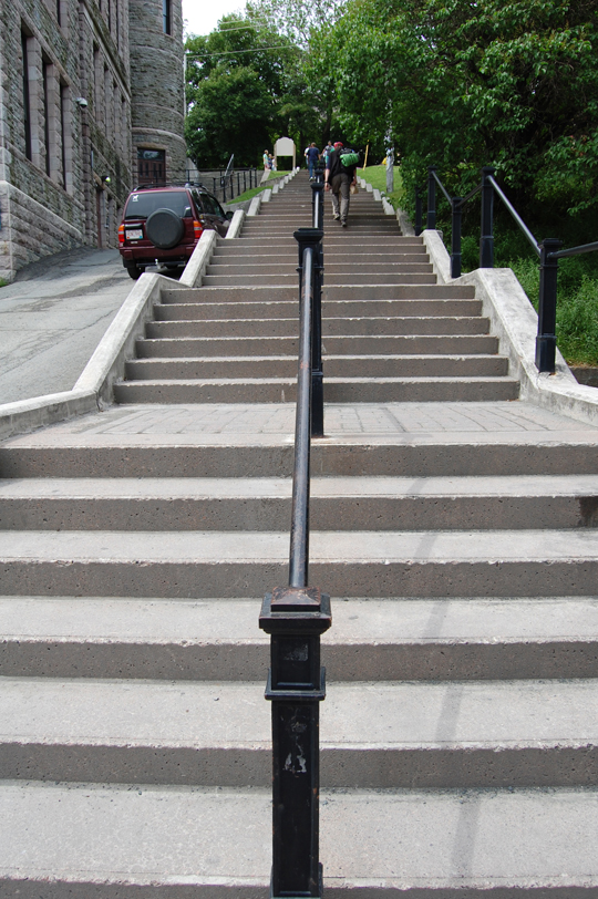 The steps by the courthouse