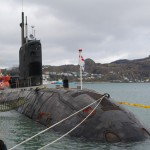 There's a submarine in the harbour