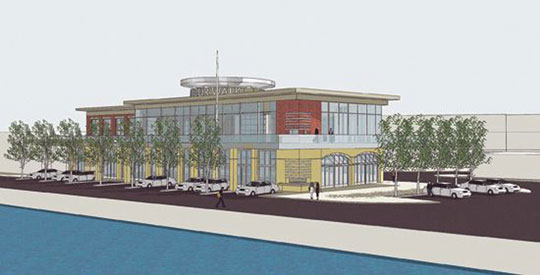 A new proposal for a building on the harbour. Image courtesy the City of St. John's.