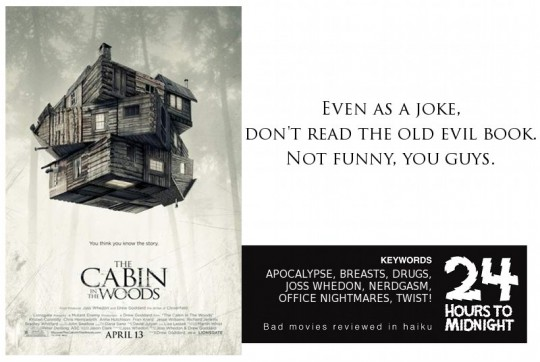 Cabin in the Woods (2012) review for thescope.ca by 24 Hours to Midnight: The Blog!