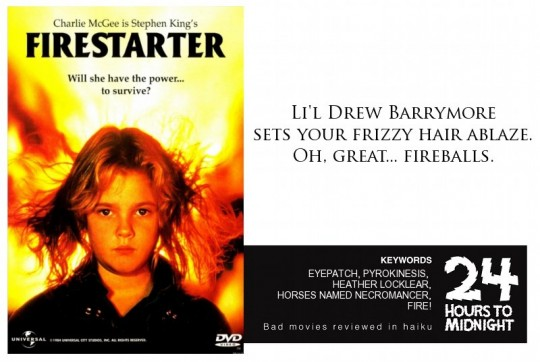 Firestarter (1984) review for thescope.ca by 24 Hours to Midnight: The Blog!