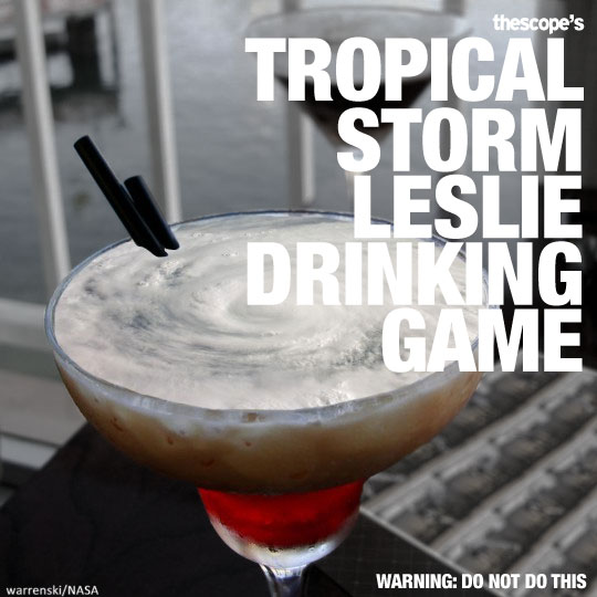 The Tropical Storm Leslie Drinking Game