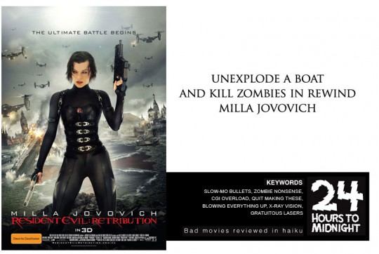 unexplode a boat / and kill zombies in rewind / milla jovovich