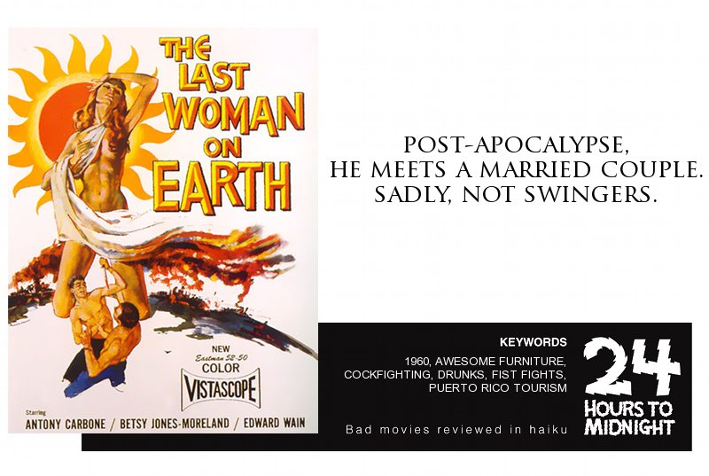 The Last Woman on Earth (1960) review for thescope.ca by 24 Hours to Midnight: The Blog!