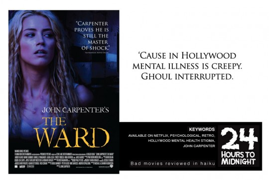 'Cause in Hollywood / mental illness is creepy. / Ghoul interrupted.